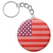 US flag on keychain by omniverz.com