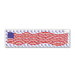American flag waving bumper sticker by omniverz.com