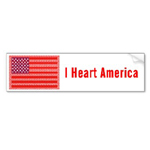 I heart America bumper sticker from omniverz.com