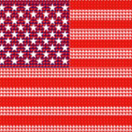 American flag made from hearts design by omniverz.com