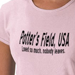 Potter's Field funny shirt from omniverz.com