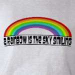 Rainbow is smiling shirt created at Omniverz.com
