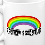 Rainbow is God smiling mug by omniverz.com