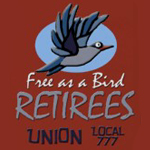 Retirees free as a bird logo from omniverz.com
