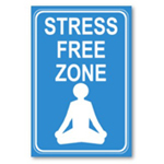 Stress free zone poster from omniverz.com